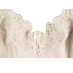 Image 5 - Mulheres Sem Forro Sutiã Sutiãs Cobertura Total Plus Size Bordado Não acolchoado Bra Bralette Underwire Underwear 36 46C/D/DD/DDD/E/F/G