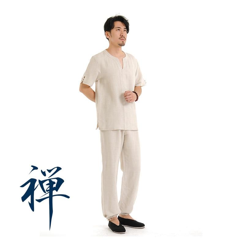 High Quality Linen Tai Chi Uniform Martial Arts Suit Wushu Kung Fu Clothes Short Sleeve Wingchun Taiji Wear Performance Suit