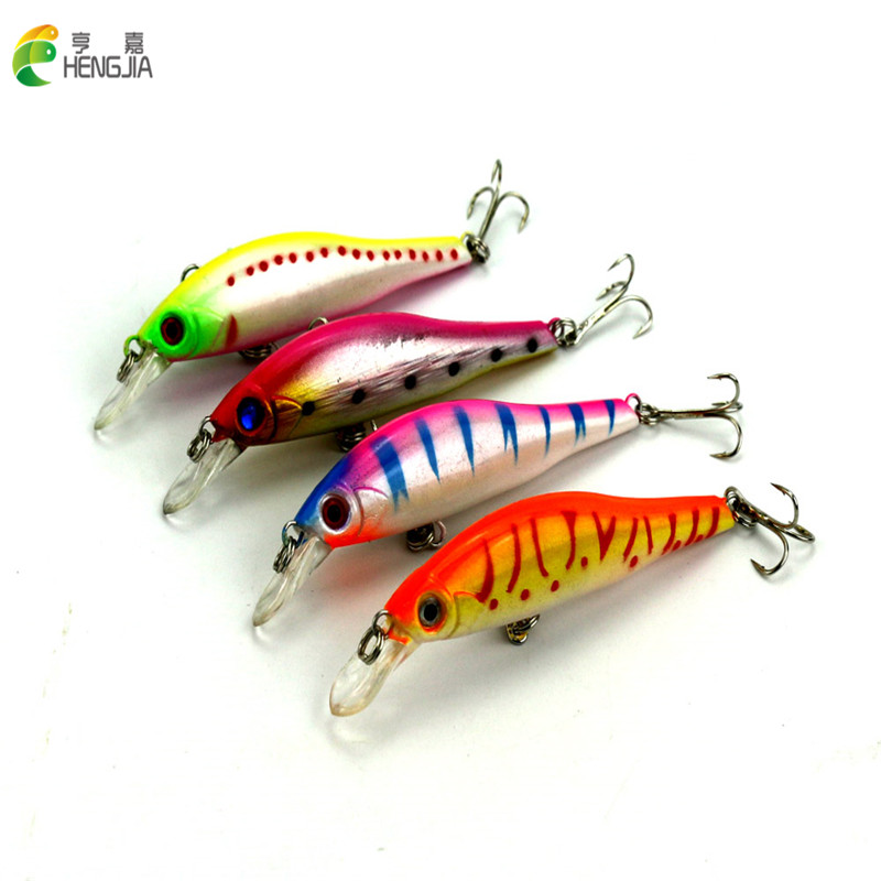 New Arrival 9.5cm/11.5g 4 Pcs fishing lures with hooks deep swim hard bait isca artificial baits pesca minnow fishing wobbler
