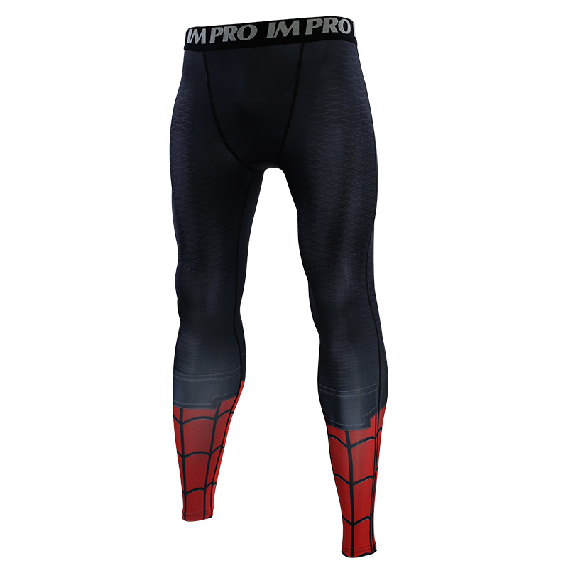 Trousers Male Leggings Compression-Tights-Pants Skinny Printed-Pattern Spider-Man Far