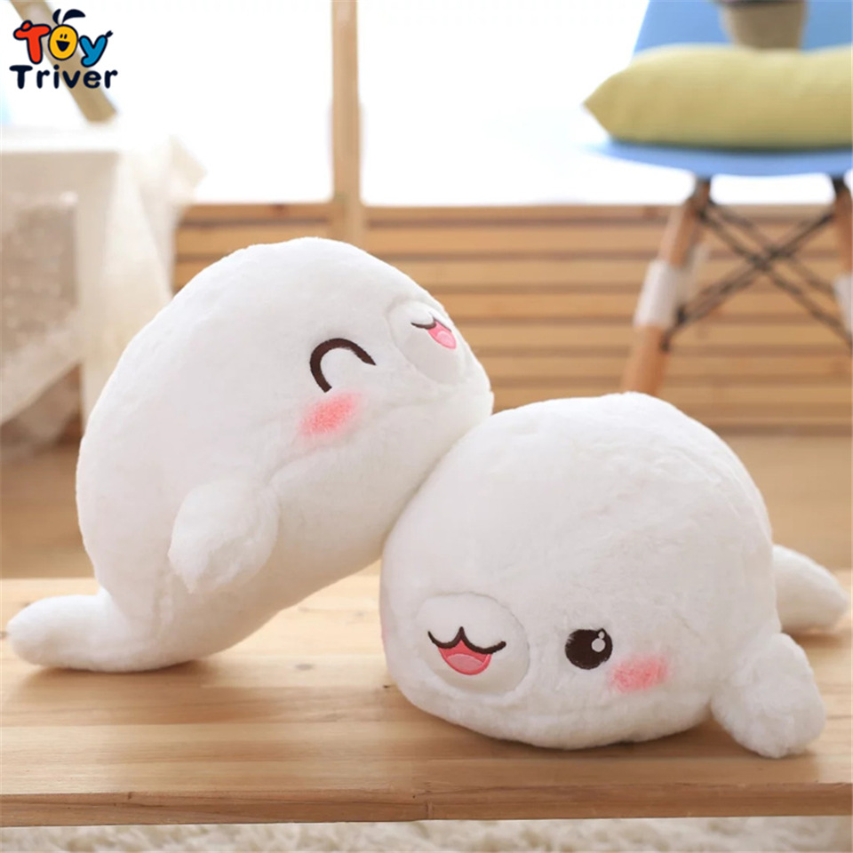 55cm Plush sea dog seal toy stuffed ocean animal toys doll kids baby friend birthday christmas gift present home Deco Triver  fancytrader seal plush baby doll large stuffed cartoon animal arctic seal toy white bear kids gift pillow 39inches 100cm