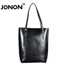 JONON Дизайнер 100% Натуральная Кожа Сумки Для женщин Известного Бренда Сумки Плеча Tote Сумки Для Леди Повседневная Bolsa WHB078