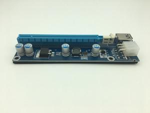Image 3 - Mini adaptador de tarjeta elevadora SATA, Cable de alimentación de 6 pines para minería de Bitcoin BTC, USB 3,0 de 60cm, PCI E a PCIe PCI Express de 1x a 16x