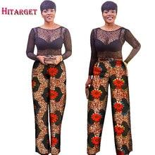 2017 summer women african Batik print pants calf-length Loose long Wide leg ankara 100% cotton trouser WY488