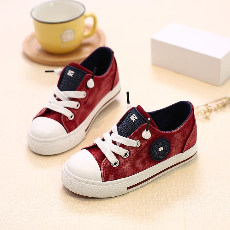 kinderen kinderen canvas schoenen voor meisjes jongens babys 2018 - Kinderschoenen - Foto 2