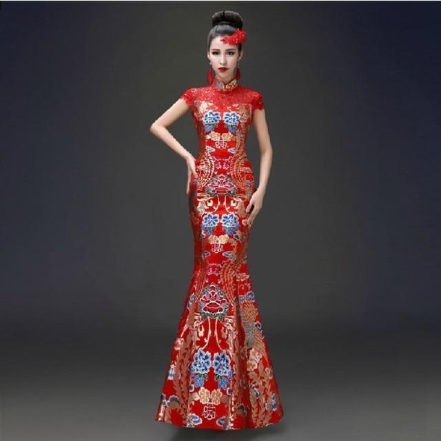 Tradicional chino oriental Vestidos boda qipao vestido 2017 Nuevo ...