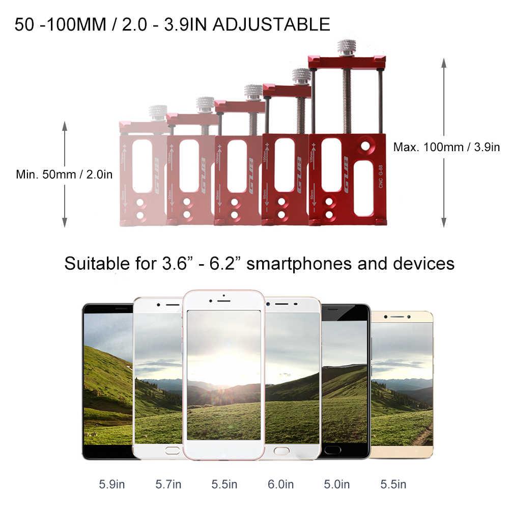 GUB Универсальный держатель для крепления на руле Алюминиевый держатель для телефона Подставка для 3,5-6,2 дюймов телефон GPS Экшн-камера