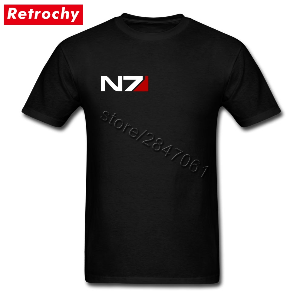 577632925e2971 Wholesale Prices Mens Vintage mass effect n7 T Shirts Short Sleeves Custom  Made Tees Shirts Boy