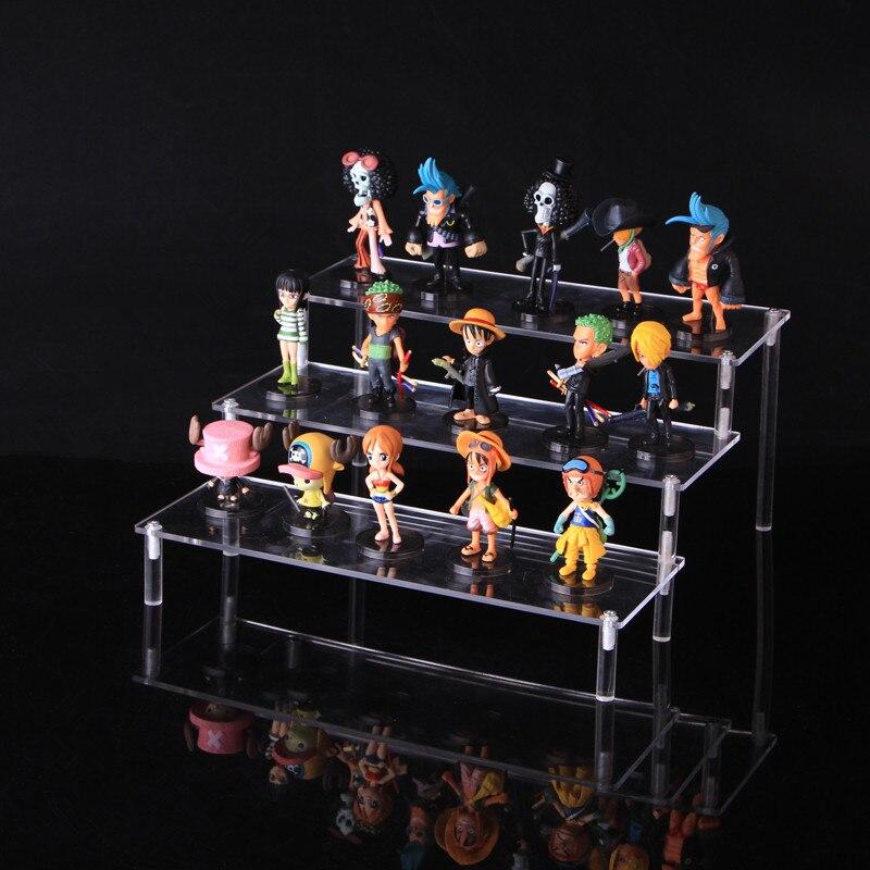 ALZATA Acrilico Display Mensola 3-Tier Display Stand Rack rimovibile per le figure Toys