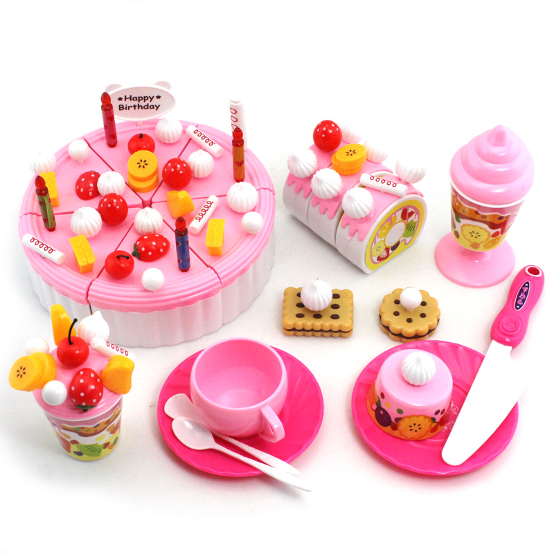 Discount Toys Girls Child Pretend Play Birthday Gift Cake Dessert Toy Model Set 7Multicolor Freeshipping - TopIn Fashion Enterprise store