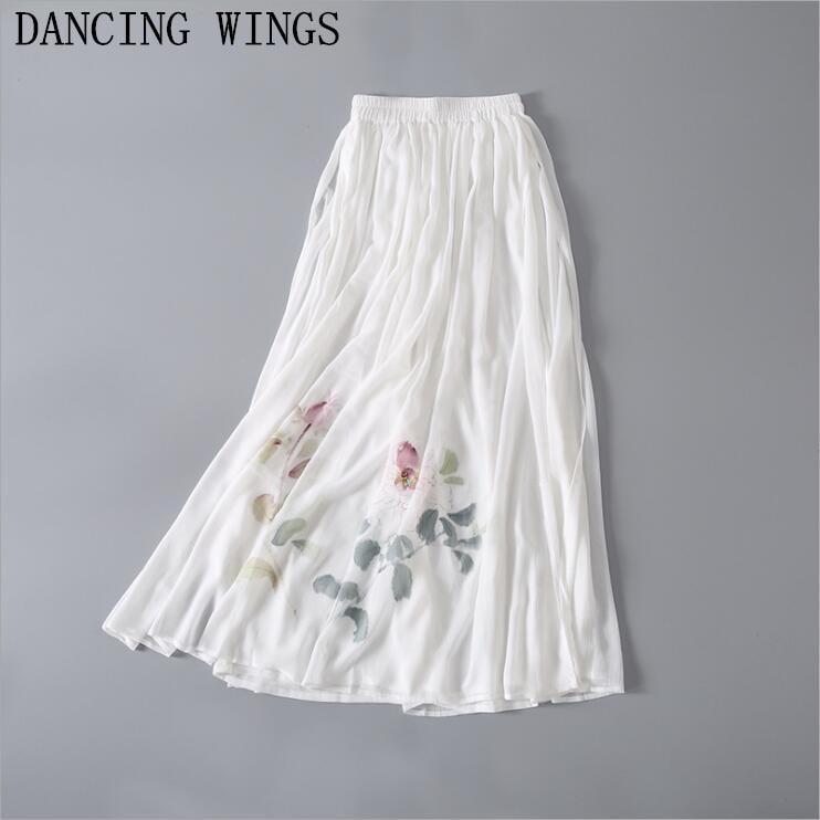 pantalon femme ete 2019 Summer Elegant Floral Print Women   Wide     Leg     Pants   Elastic High Waist Casual Loose   Pants   Capris