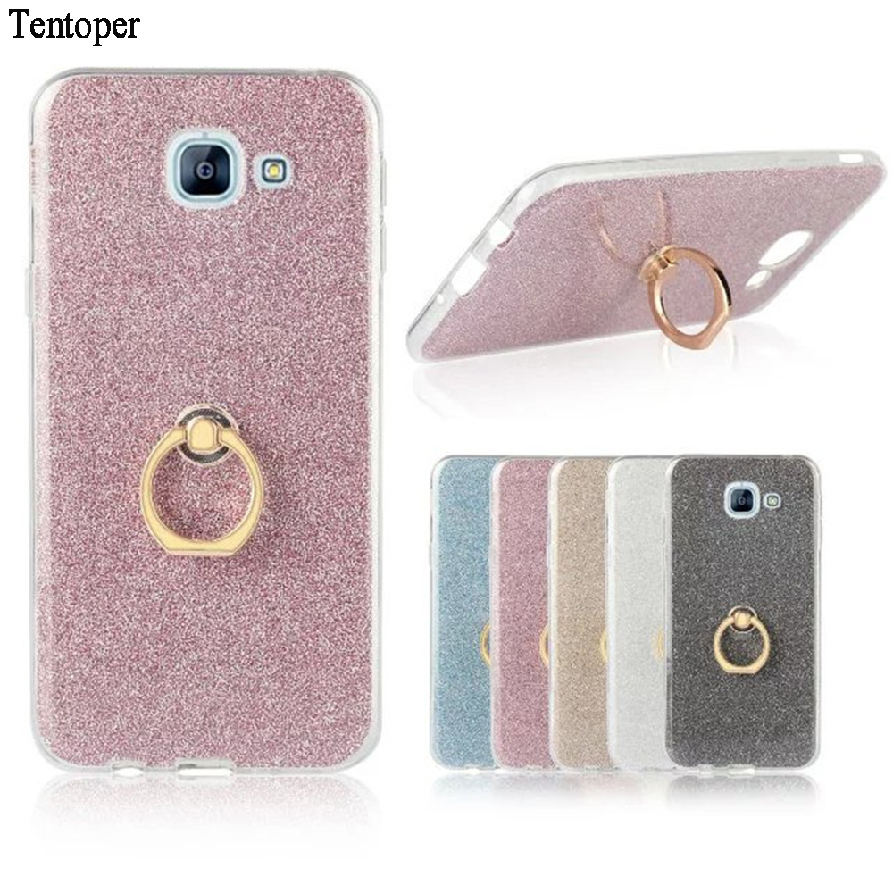 Ring Glitter Bling Cute Candy Cover For Samsung Galaxy A3 A5 A7 A8 2015 Soft Gel TPU Phone Case For Samsung A5 A7 2017 2016 Case