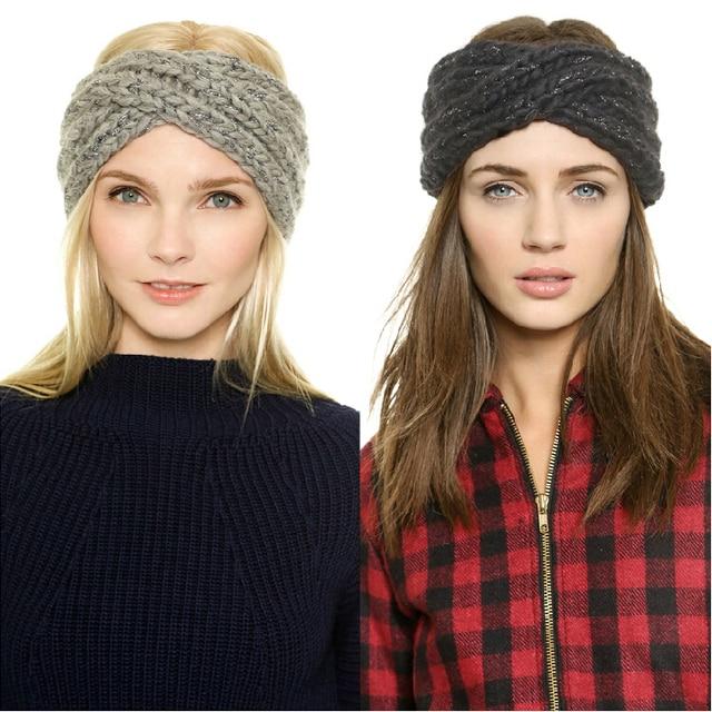 Sombrero de invierno europa de moda gire diadema Beanie gorros sombreros  Gorro para mujeres gorros de ba35aae1003