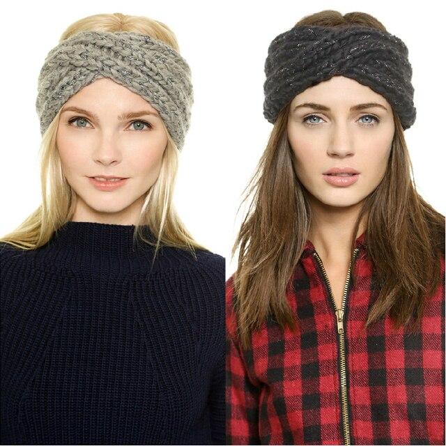 Winter Hat Fashion Europe Twist Headband Beanie Beanies Gorro Hats For  Women gorros de lana Solid Ears Warm Knit Cap Womens Hats d752475484e