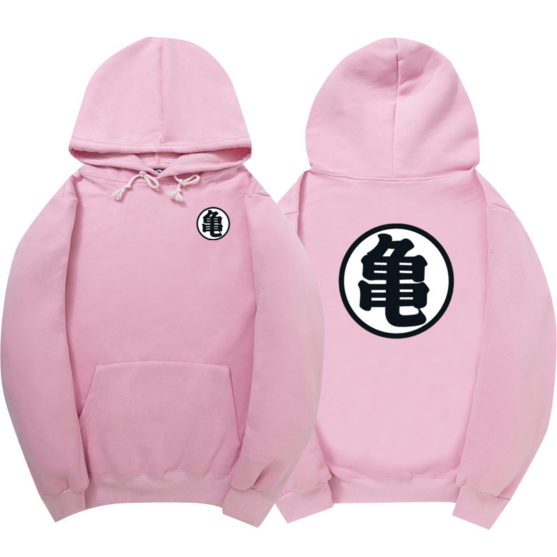 WIPU Good quality Hot Dragonball Hoodies Son Goku Sun Wukong Winter Fleece Mens Sweatshirt Streetwear Pink