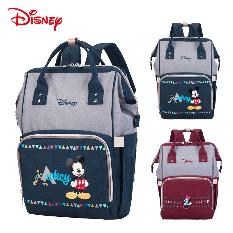 Disney NEW Diaper Bag Backpack Insulation Bags Minnie Mickey Big Capacity Travel Oxford Feeding Baby Care Mummy Nappy Bag in Diaper Bags from Mother Kids