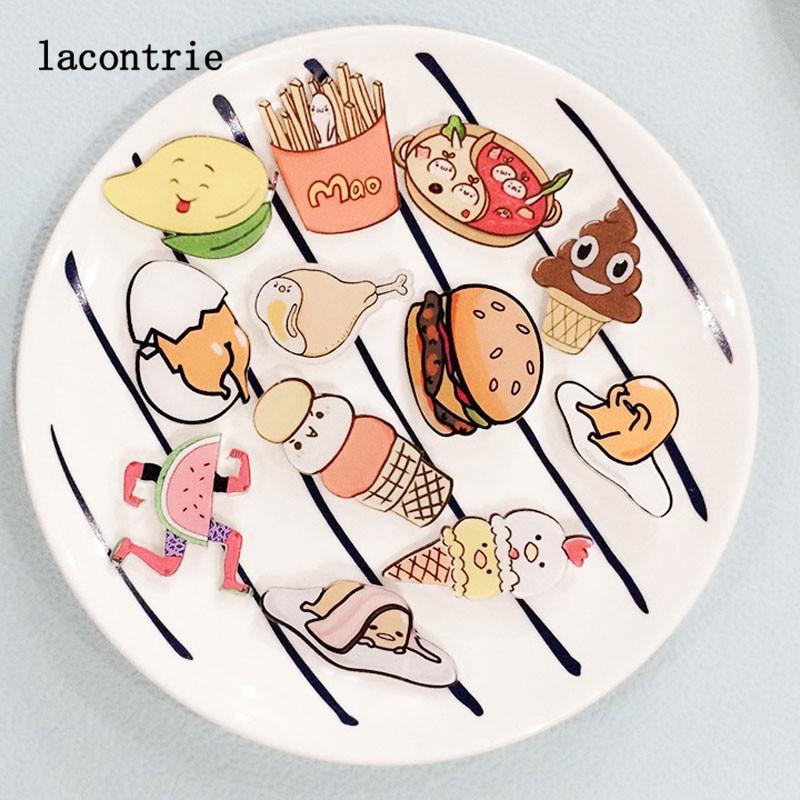 1 PCS Delicious font b Food b font Shaped Badges Series 2 Free Shipping Cartoon font