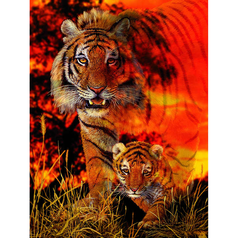 5D DIY Full square Diamond Painting Mosaic Tiger's Pace Diamond Rhinestone Embroidery Cross Stitch home decor KBL