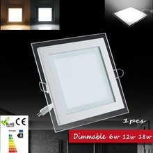 1pcs Dimmable led panel light LED Ceiling Recessed Light AC85-265V LED Downlight  SMD 5730 6W12W 18W Warm/Cool  Indoor lighting