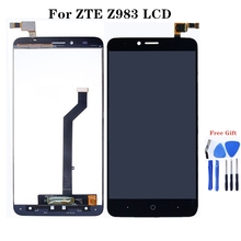 For zte Blade X Max Z983 LCD + touch screen assembly replacement for zte Z983 LCD monitor quality test + free shipping for zte blade v7 lcd assembly display touch screen replacement for zte v7 phone free shipping