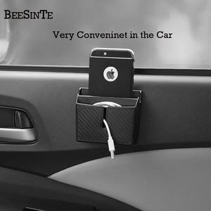 Image 1 - Автомобильный держатель для телефона коробка для хранения в розетка в автомобиль черный для смартфона без магнитного держателя поддержка универсальный для iphone samsung Горячая
