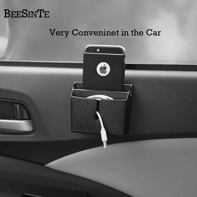 سيارة حامل هاتف صندوق تخزين في مقبس سيارة أسود ل هاتف ذكي لا حامل مغناطيسي دعم العالمي ل iphone samsung الساخن