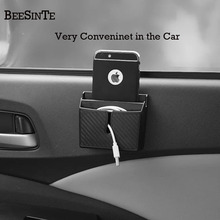 Auto scatola di immagazzinaggio supporto Del Telefono in Auto presa Nero per smart phone No Magnetico di Sostegno Del Supporto Universale per iphone samsung Hot