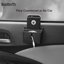 Caja de almacenamiento del soporte del teléfono del coche en el enchufe del coche negro para el teléfono inteligente sin soporte magnético Universal para iphone samsung Hot
