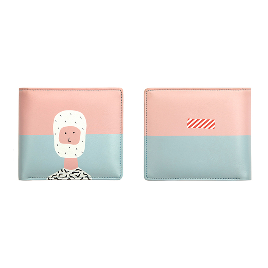 YIZISTORE Original PU leather short wallets with fresh interesting printing in 4 styles in COLOR STORY series(FUN KIK) kiitos life cute pu short wallets for girls in animals series fun kik store
