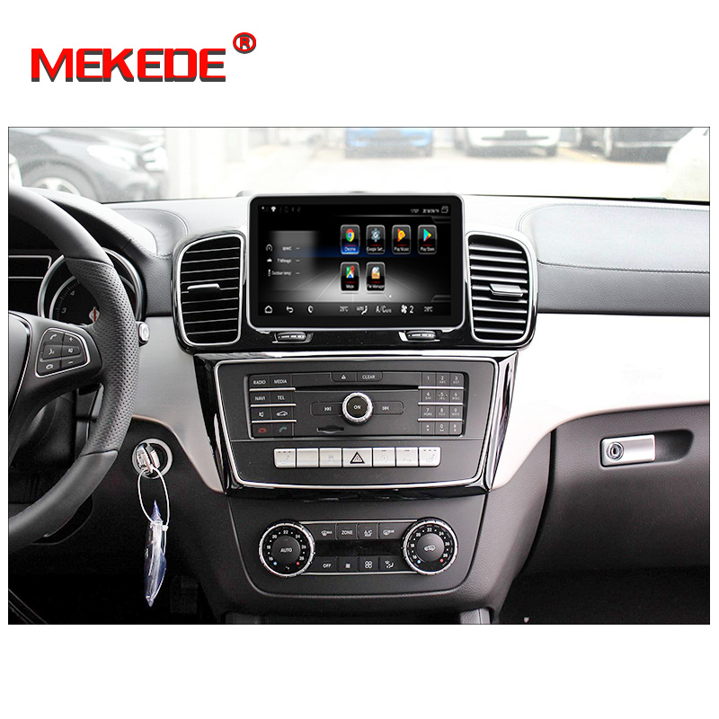 Sale New arrival!android7.1 Car stereo head unit navigation GPS NAVI DVD player for Benz GLE 2012-2018 support 4G wifi BT free map 1