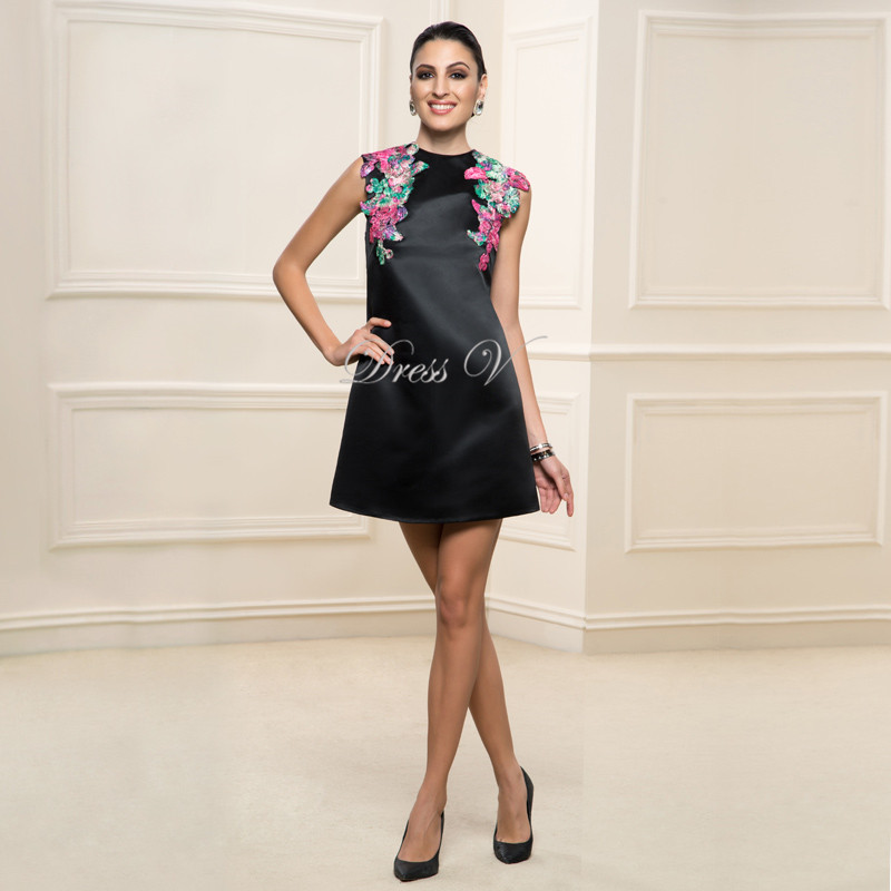 Designer Short Black Cocktail Dresses