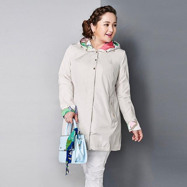 Астрид 2016 распродажа женский плащ больших размеров куртка тонкая с капюшоном классический модель высокое качество AY-1670
