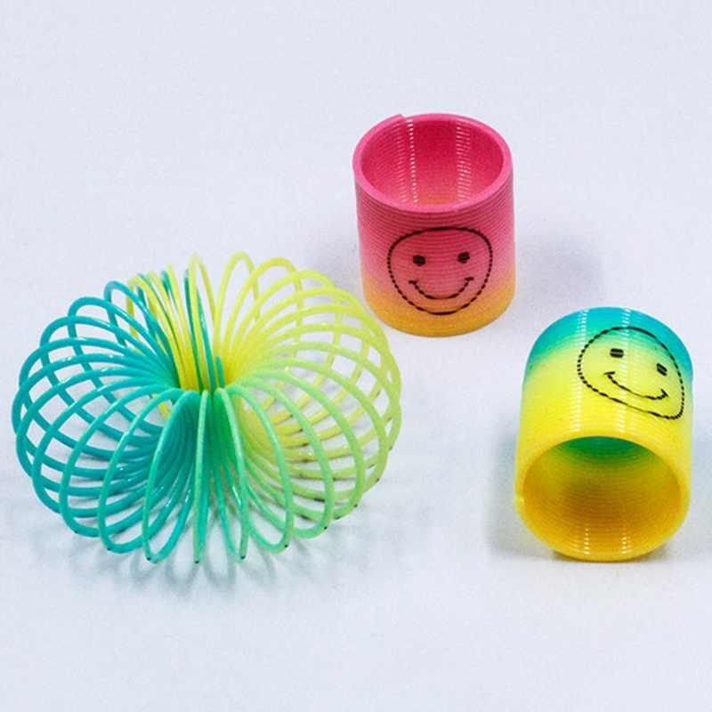 12 pièces/ensemble Mini ressorts arc-en-ciel cercle enfants jouet drôle jouet éducatif cadeaux pour enfant sac de fête