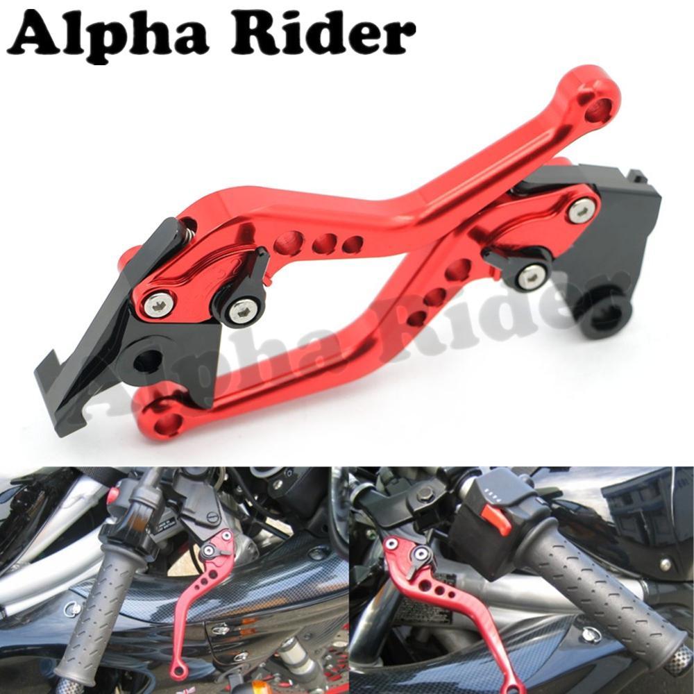 CNC Aluminum Motorcycle Brake Clutch Red Levers Black Adjusters for Kawasaki ZX 6R 636R 6RR 9R 10R 12R Z1000 ZZR600 VERSYS 1000 kawasaki zx 6r 636 zx 10r 12r 9r gtr1400 изменение рука дроссельной ручки резиновый рукав