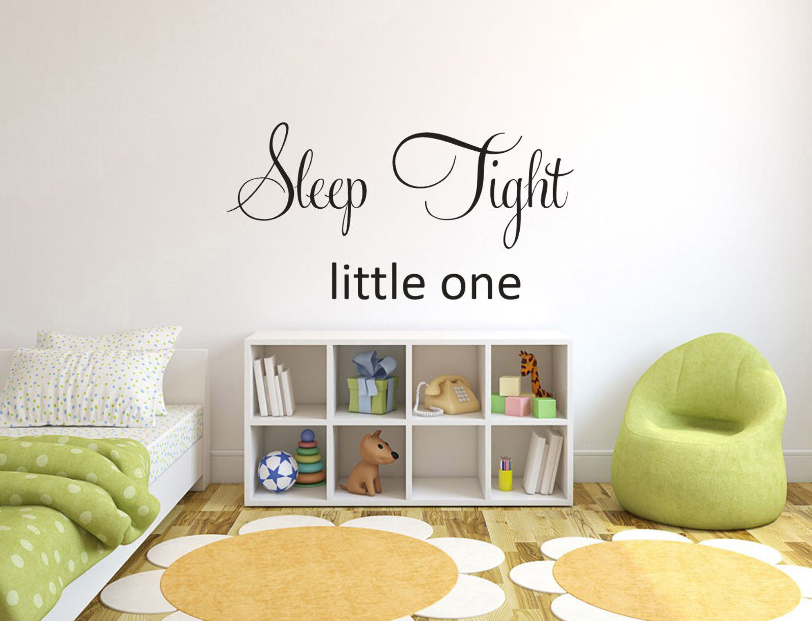 Sleep Tight Little One Baby Nursery Wall Decal Wall Art Stickers Wall Stickers