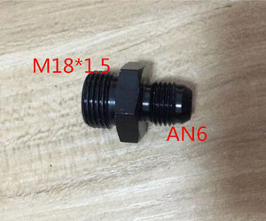 new male M18 P1.5 M18 * 1.5 M18*1.5 18*1.5 to 6an an6 an 6 male adaptor adapter Fitting(China)