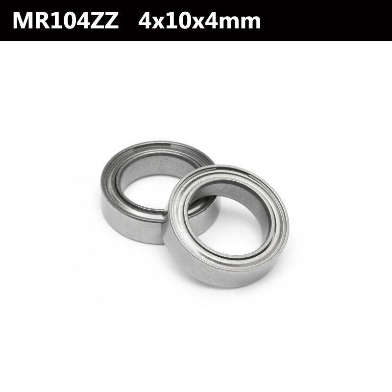 10pcs new MR104zz Ball Bearing metal sealed 4X10X4mm Miniature Mini Bearing