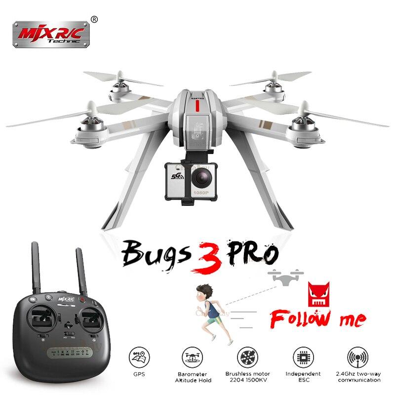 MJX Bugs 3 Pro B3 Pro RC Drone con 720 p/1080 p Wifi FPV Cámara GPS sígueme modo Brushless RC helicóptero Quadcopter VS Bugs 5 W