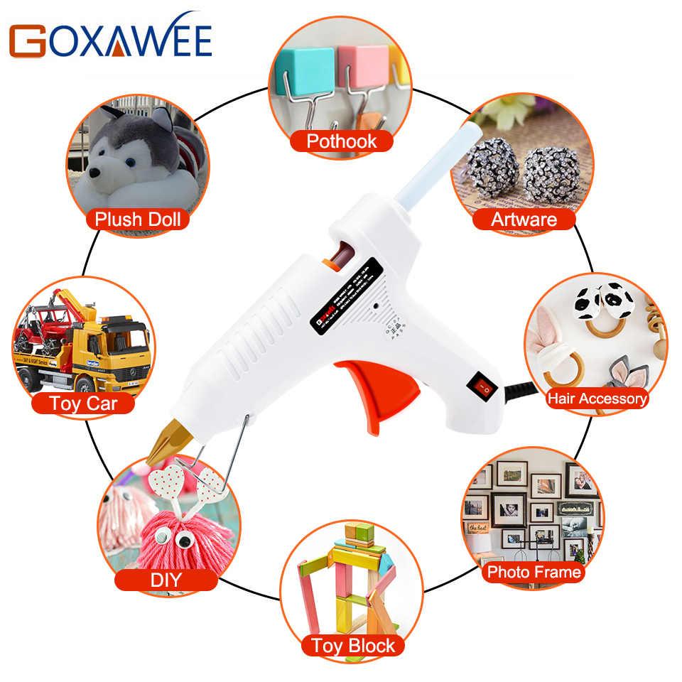 Goxawee ร้อนละลายกาวปืน 20W 80W 105W 10pcs กาว Sticks ความร้อนอุณหภูมิปืน thermo Gluegun ซ่อมแซมเครื่องมือความร้อน