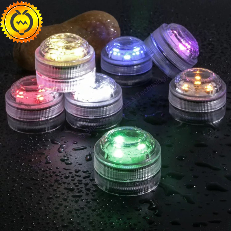 10pcs Fairy Wedding Decoration impermeabile sommergibile LED tè Mini luci con batteria Christmas Party Halloween Vaso lampada da tavolo