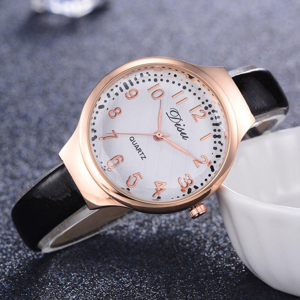 Women Wrist Watches Retro Design Leather Band Analog Alloy Quartz ladies watch women watch female vintage watches for women