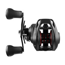 LINNHUE Best Baitcasting Reel 8.1:1 12+1BB Bass Fishing Reel 8KG Max Drag Left Right Hand Reel Reinforced Nylon Body White Bass