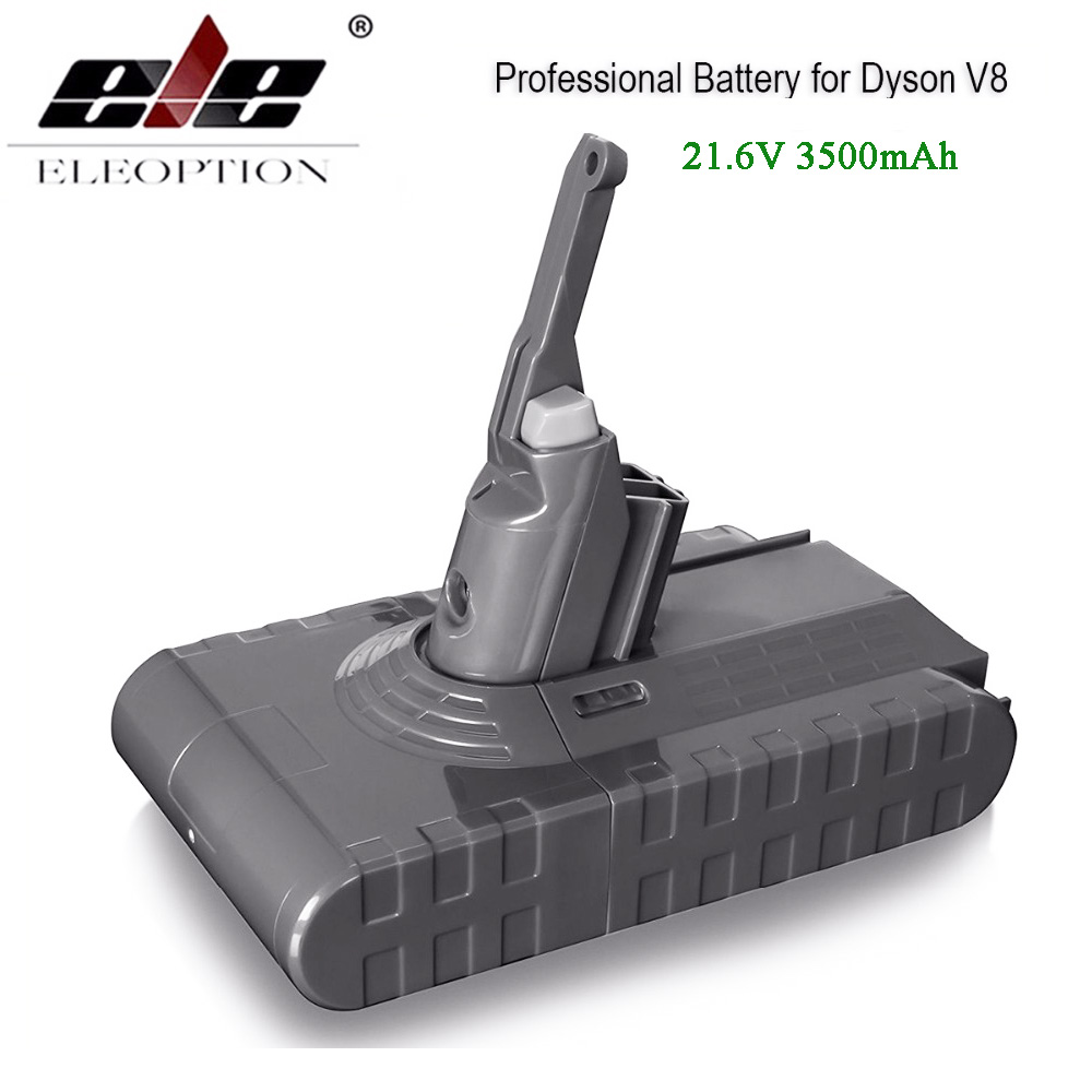 High Quality 3500mAh 21.6V Battery For Dyson V8 Battery Absolute V8 Animal Li-ion Vacuum Cleaner Rechargeable BATTERY high quality 21 6v 3000mah rechargable li ion battery for dyson v8 vacuum cleaner