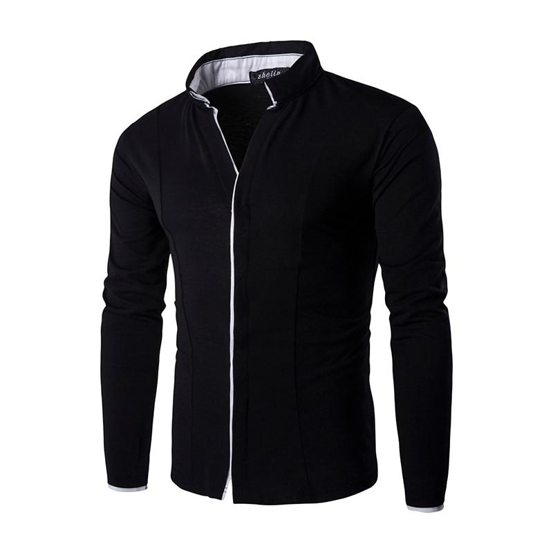 Brand 2017 Fashion Male Shirt Long-Sleeves Tops Knitted Men'S Casual Mens Dress Shirts Slim Men Shirt XG01C122