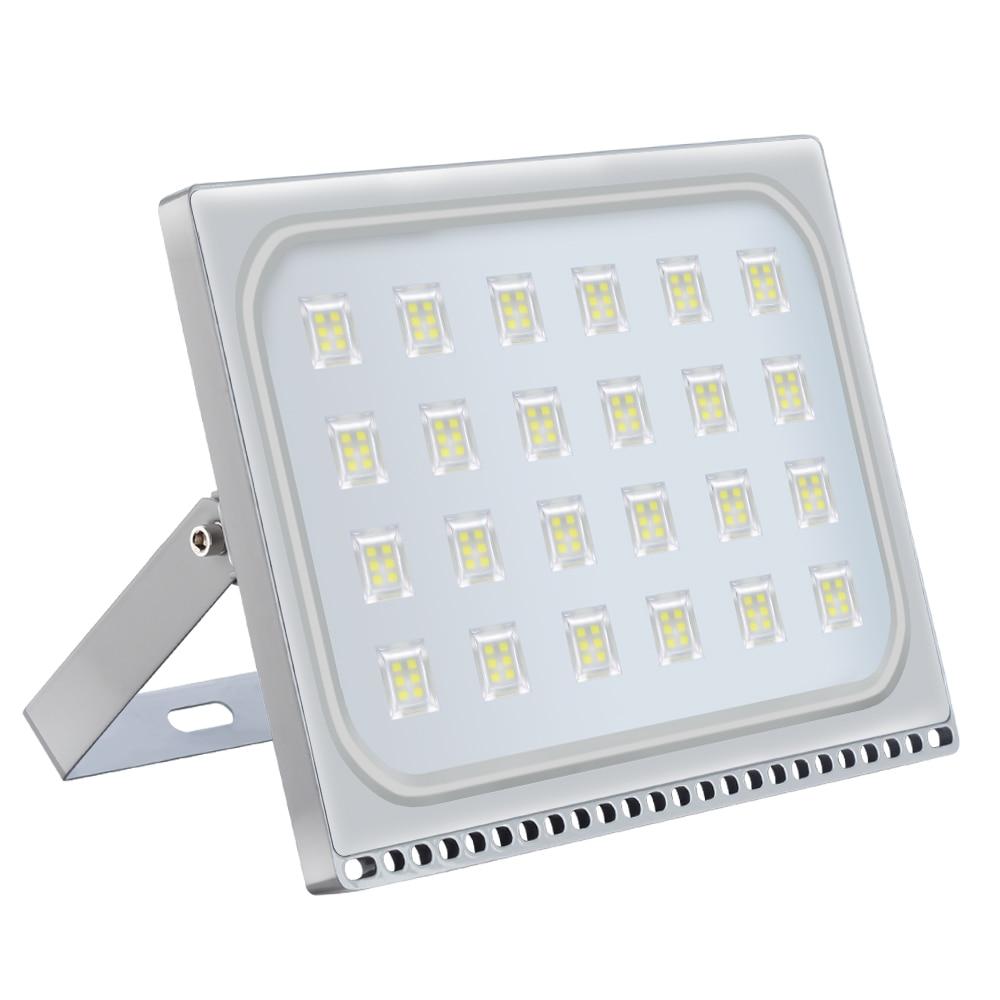 Ultraslim 150 Вт Светодиодный прожектор наружные охранные огни 110В 220В Холодный белый водонепроницаемый IP65