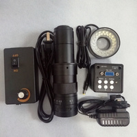 FGHGF VM 10A 180X Times Digital Microscope 0.7 4.5X Zoom Lens C Mount VGA Camera 2 Million Pixels Built in Crosshair Repair Tool