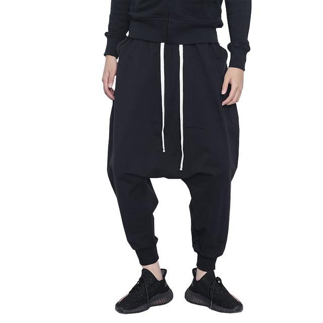 3d114ebb977 Fashion Black Harem Pants Men High Street Baggy Homme Compression Pants  Asian Size M-XXXL Hip Pop Casual Joggers Man Sweatpants