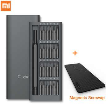 Original Xiaomi Mijia Wiha Daily Use Screw Kit 24 Precision Magnetic Bits Aluminum Box Screw Driver xiaomi smart home Kit - DISCOUNT ITEM  21% OFF All Category