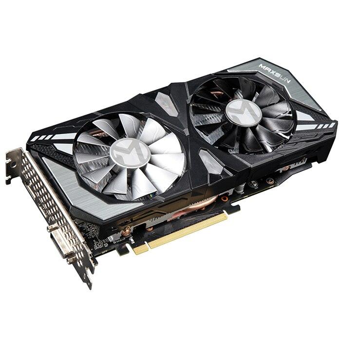 MAXSUN GeForce GTX 1660 Terminator 6G Nvidia Gaming Video Graphics Card 1530MHz / GDDR5 / 6G / CUDA Cores 1408 / DP / HDMI /DVI(China)