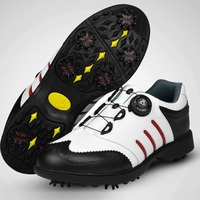 2020 Golf Shoes Mens Genuine Leather Anti Skid Breathable Golf Sneakers Design Rotating Shoelaces Training Sports Shoes D0608